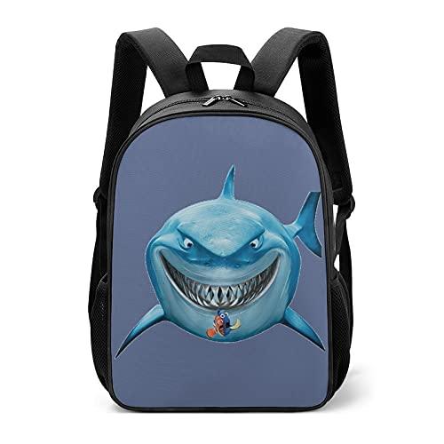 Lustige wasserdichte leichte Kinder Schultasche Studenten Taschen Rucksäcke Original Design Cartoon Funny Shark Expression Akimbo I, Weißer Cartoon-Anime-Hai, Clownfisch, Scary Expressi, Einheitsgröße
