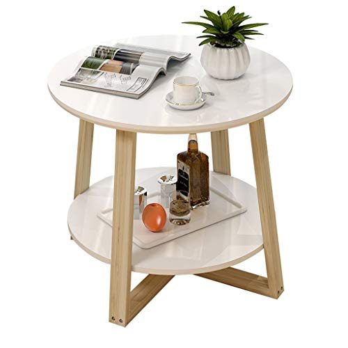 YULAN massief houten salontafel, eenvoudige moderne woonkamer, kleine ronde tafel, creatieve bijzettafel, eenvoudige kleine apartent, balkon, tafelpoot, balkon of woonkamer