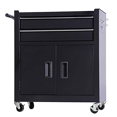 YGWE Tool Cabinets Toolbox Multifunctional Auto Repair Tool Trolley Tattoo Workbench Workshop Tool Tin Cabinet Tool Chest (Color : Black, Size : 62x33x74cm)