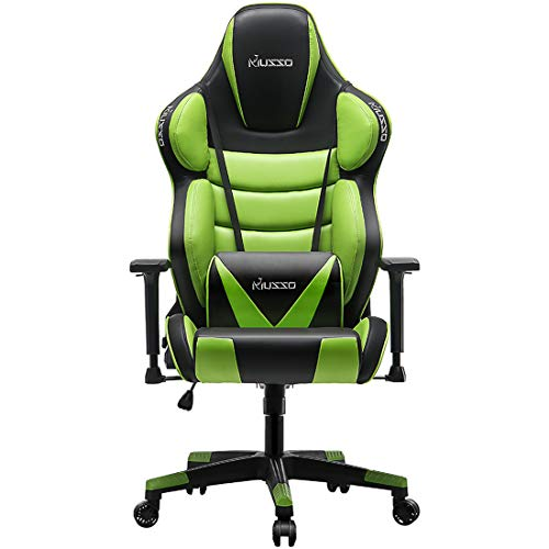 Musso Big & Tall (Green) Gaming Chair Adults Racing Computer Gamer Chair with Fully Foam, Esports...