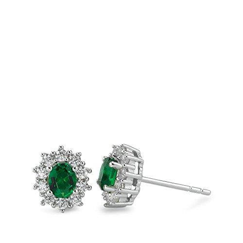Ohrringe 925 Argent Smaragde
