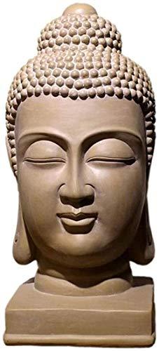 KUPR Estatuilla Escultura de Escritorio Estatua de Cabeza de Buda Estatua de Busto de Buda Interior jardín al Aire Libre decoración del hogar Resina Antiguo Zen Suministros religiosos Adornos