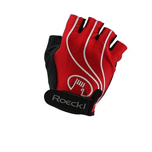 Roeckl guantes de ciclismo MTB verano corto del dedo rojo-negro 1234, handschuhgröße:7...