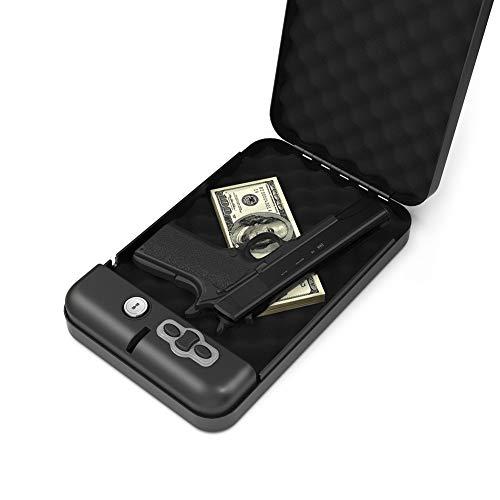 RPNB Gun Safe,California DOJ Certified Gun Safe, Smart Pistol Safe Handgun Security Safe with LED & RFID Quick Access,11