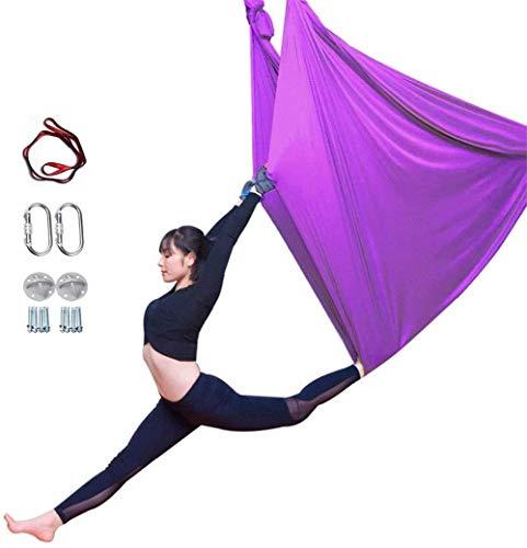 Review Of YAOSHUYANG Aerial Yoga Hammock, Aerial Yoga Swing Set, Ultra Strong Antigravity Yoga Hammo...