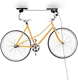 Relaxdays Bicycle Garage Storage Rack, Bike Lifter, up to 20kg, Ceiling Holder, Black