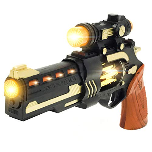 Steampunk Cool Kids Toys Guns for Boys,Girls Revolver Pistol with Lights Sounds