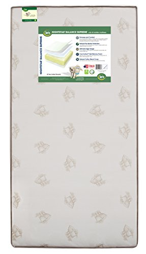Serta Nightstar Balance Supreme Cool Action Gel Memory Foam Crib and Toddler Mattress | Waterproof | Lightweight |GREENGUARD Gold Certified