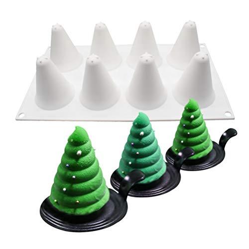 Molde de silicona para hornear con 8 cavidades 3D para árbol de Navidad