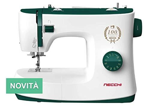 Necchi K121A - Máquina de coser, interior de fundición a presión, de aluminio, carcasa de ABS, verde, normal