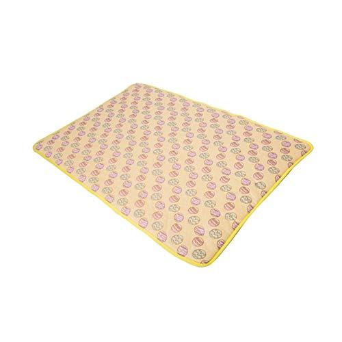 Aqiong KAERMA huisdier-Katze-zomer-koelmat, koude deken, comfortabel, multifunctioneel vezel-kussen voor katten, hondendieraccessoires, huisdieraccessoires (kleur: geel, maat: 70x100cm)