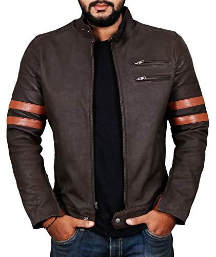 Laverapelle Men's Genuine Lambskin Leather Jacket (Choco-Snaff, Medium, Polyester Lining) - 1501535