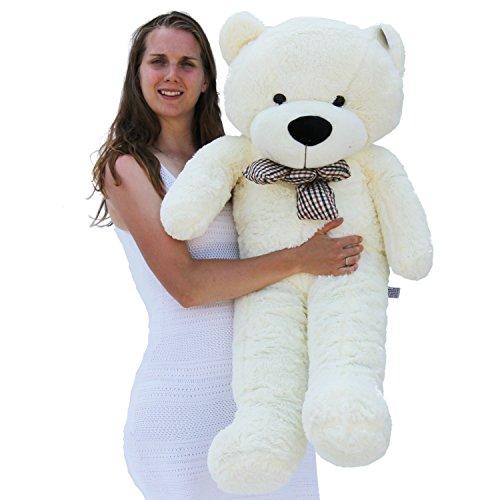 Joyfay Joyfay gigante oso de peluche de la felpa del oso de peluche grande de juguete de regalo para el cumpleaños de Navidad Valentine (120 cm, blanco) 120 cm Blanco