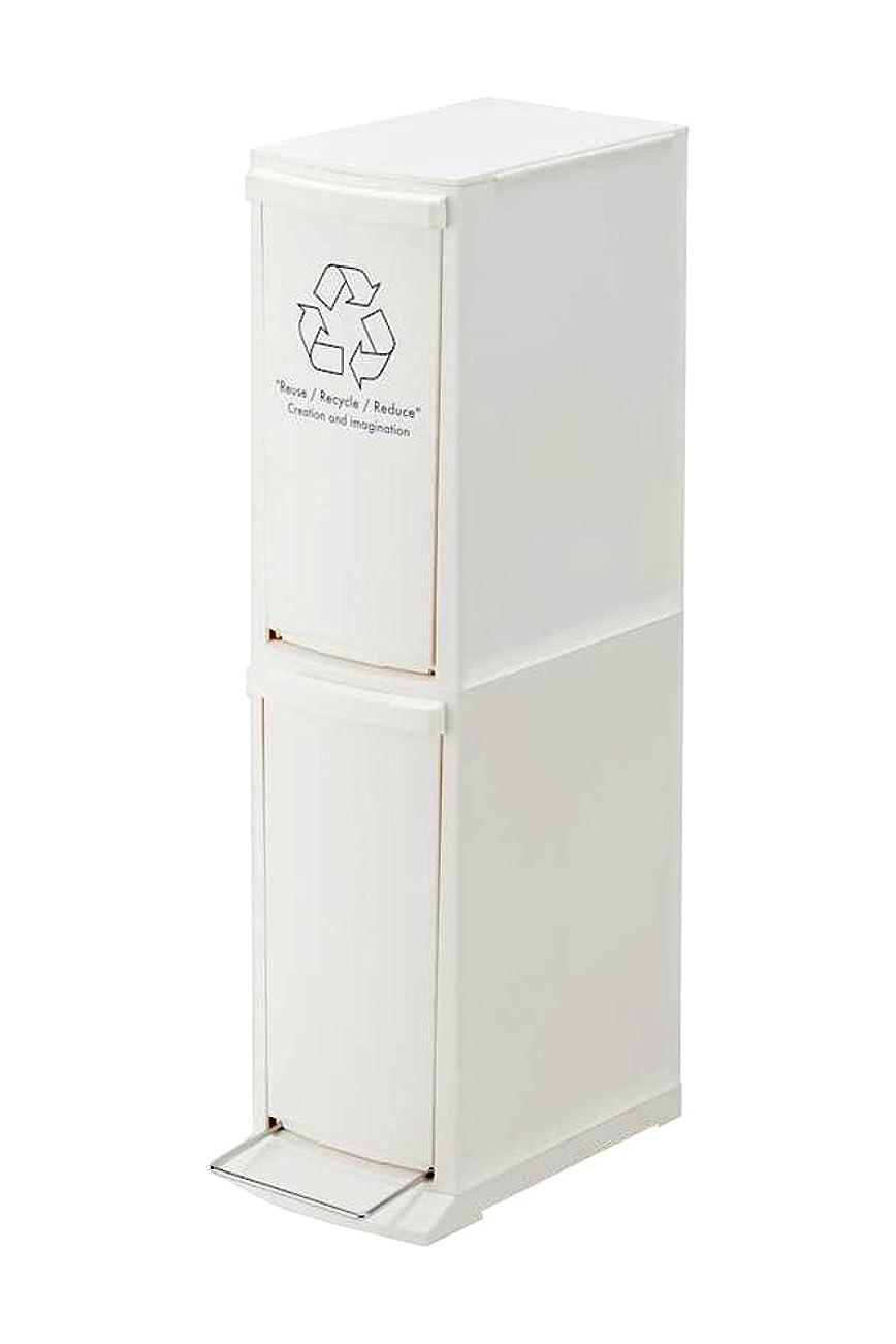 キャラクター出会い予測子東谷(Azumaya-kk) ダストボックス ホワイト 高さ80cm-2段 LFS-932WH
