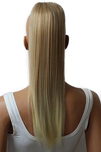 PRETTYSHOP 55cm Haarteil Zopf Pferdeschwanz Haarverlängerung Glatt Blond Mix PH510