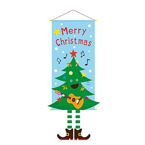 Fasclot Originality Christmas Hanging Cloth Hanging Picture Shopping Mall Party Store