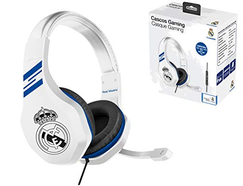 Casque Gaming avec micro pour Playstation 4 - PS4 Slim - PS4 Pro - Xbox One - PC - Edition accessoire gamer club Real Madrid