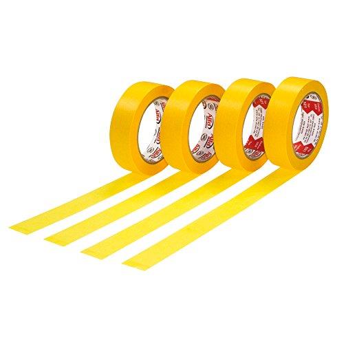 4x FineLine Gold Premium Maler-Kreppband 30 mm x 50 m Spezialpapierband Profi-Abdeckband