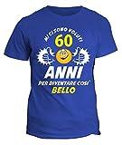 fashwork Tshirt Compleanno Mi Ci Sono Voluti 60 Anni per Diventare così Bello - Idea Regalo