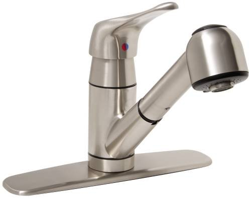 Premier Faucet 2495808 Kitchen Faucet with Pull-Out and Single Handle, 1.8 Gpm, Brushed Nickel