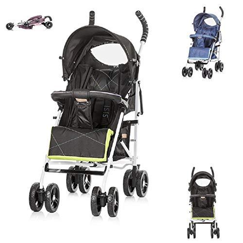 Chipolino Kinderwagen Buggy Sisi Kollektion 2018, Buggy, Rückenlehne einstellbar schwarz