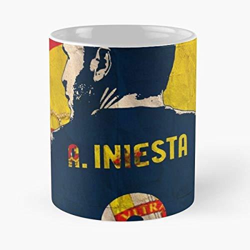 Desconocido Soccer Espana Andres Dribbler Football Spain Leader Legend Taza de café con Leche 11 oz