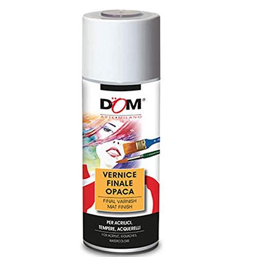 Bomboletta 400 ml fissativo spray trasparente opaco dom 628 finale protettivo per disegni pittura ad olio ed acrilica