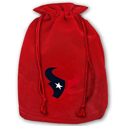 Azhangljqn Christmas Bags Houston-Texans Drawstring Bags 1 Pack, Santa Candy Bag Tote, Unique Winter Christmas Design for Kids and Adults