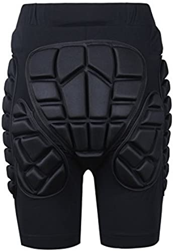 Soarouge Youth Hommes Adult 3D Prougeection Hip EVA Paded courte Pants Prougeective Gear Guard Pad Ski Skiing Skating Snowboard noir XL by soaReD