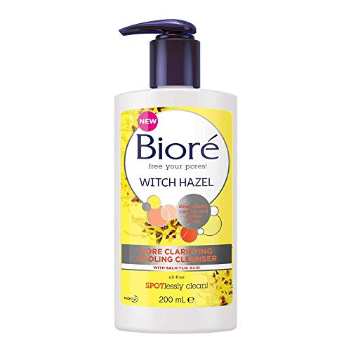 Bioré Witch Hazel Pore Clarifying Cooling Cleanser For Spot Prone Skin