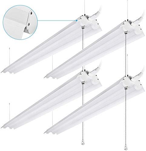 LEONLITE 40W 4ft Linkable LED Utility Shop Light,...