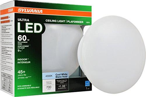 SYLVANIA General Lighting 75081 60W Equivalent Ultra LED Medium Base Retrofit for Ceiling Light Fixtures - 4000K (Bright White)