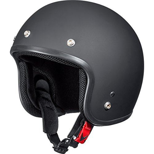 Delroy Jethelm Motorradhelm Helm Motorrad Mopedhelm Jethelm 1.2 Mattschwarz L, Unisex, Chopper/Cruiser, Sommer, Thermoplast, matt schwarz