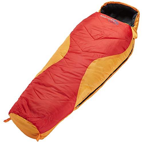 skandika Shetland Junior Kinderschlafsack | Outdoor Camping Schlafsack für Kinder, weiches Innenfutter, kuschelig weich, wasserabweisend, Komfortbereich von 12 bis 3°C, 175 x 70 cm