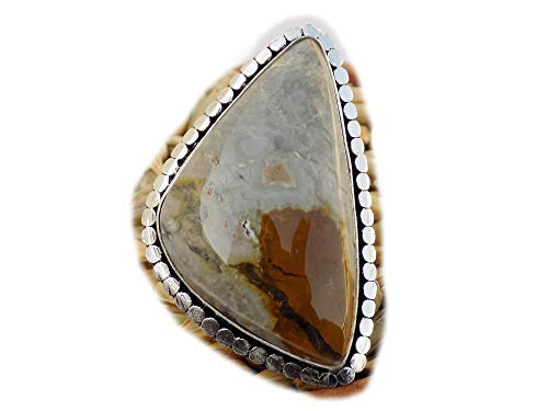 The Best Jewellery Crazy Lace Agate Ring, Silver Plated Ring, Handmade Ring, Women Jewelry, (Size- 8 USA) BRS-9849