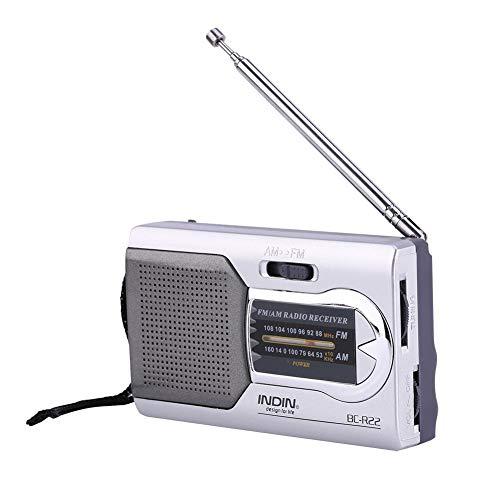 VBESTLIFE Mini draagbare AM/FM-radio, lichte en draagbare FM-radio met geïntegreerde luidspreker en telescopische antenne Gemakkelijk mee te nemen