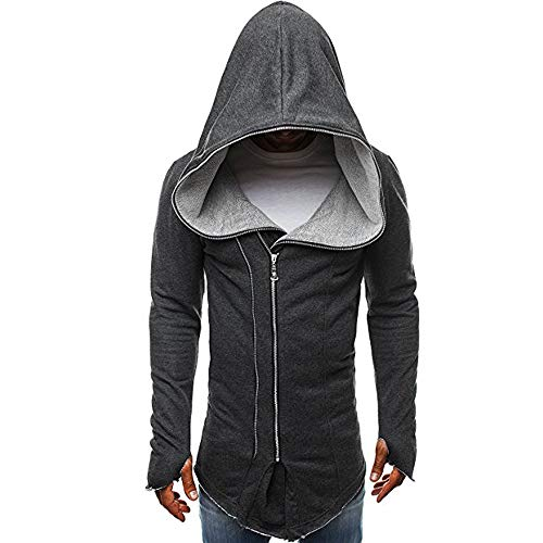 Bovake Herren Assassins Creed Umhang Mantel Sweatshirt Jacke Langarm Nähen Freizeit Hoodie Tops Neue Business Kurzarm Casual Longsleeve Hemd