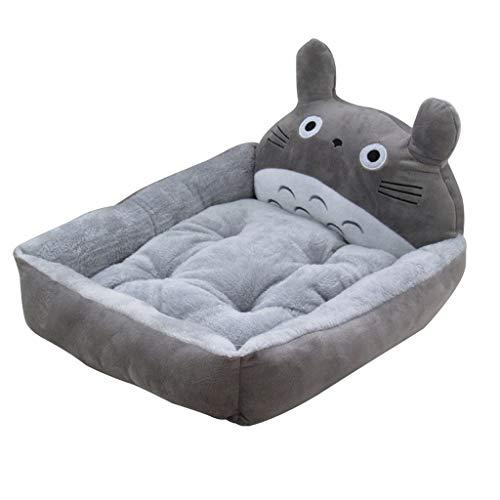 Qbylyf Nest Pet Nest Sofa afneembare machine wasbaar Verdikking Plus velours onafhankelijk wattenpad waterdicht grote hond cartoon matras hondenholle