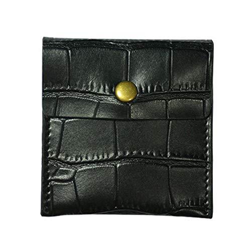 携帯灰皿 アッシュケース 革 レザー ポケットサイズ ギフト プレゼント (ブラック)