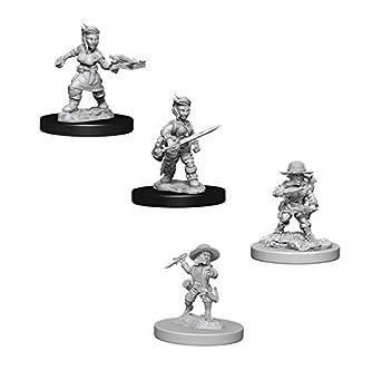 Pathfinder Battles Deep Cuts Miniatures Bundle  Male Halfling Rogue W6 + Female Halfling Rogue W8