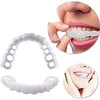 HUAJIE Arriba Y Abajo Dentaduras Instantánea Sonríe Dientes Nuevo Snap On Blanqueamiento Teeth Fit Flex Cosméticos Comodidad Reutilizable