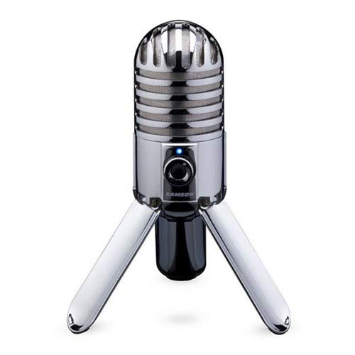 Samson Meteor Mic USB Studio Condenser Microphone, Chrome (Renewed)