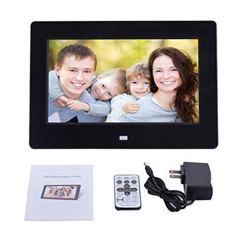 YiFeiCT 7 Zoll Digital Bilderrahmen 1024 * 600 TN Display Player mit Fernbedienung Display Foto Video