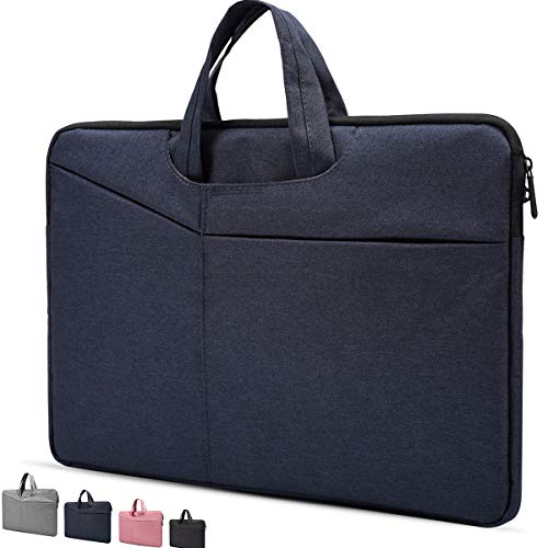 13 Inch Waterproof Laptop Sleeve with handle for 13.9' Huawei MateBook X Pro,Google Pixelbook 12.3,Dell Inspiron 13,Acer Chromebook R 13,Samsung Chromebook Plus/Pro,13.3 inch Chromebook Case,Navy Blue