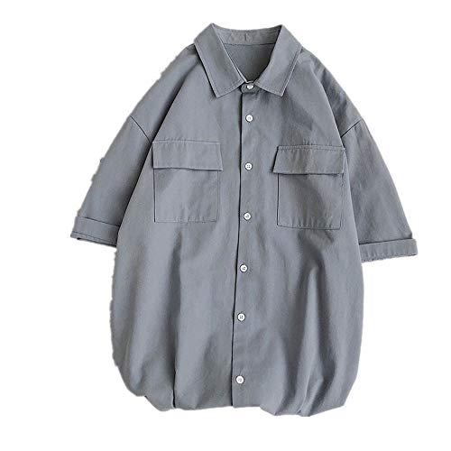 Preisvergleich Produktbild NOBRAND Sommerhemd,  kurzärmelig,  für Herren,  lässig,  vielseitig Gr. XXL,  grau