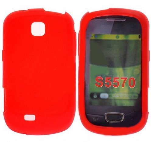 CUSTODIA GEL TPU SILICONE LUCIDA per SAMSUNG S5570 Galaxy Mini Next COLORE ROSSO