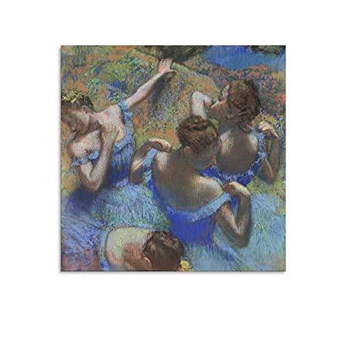 WANGXIAO Póster de Edgar Degas The Blue Dancers Room Estético de la sala de arte de la pared de la pintura de la pared carteles regalos decoración moderna del dormitorio 60 x 60 cm
