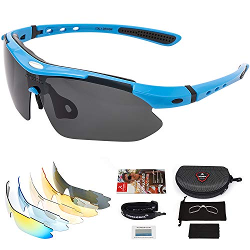 arteesol Gafas de Sol Polarizadas UV400 con 5 Lentes Intercambiables para Ciclismo...