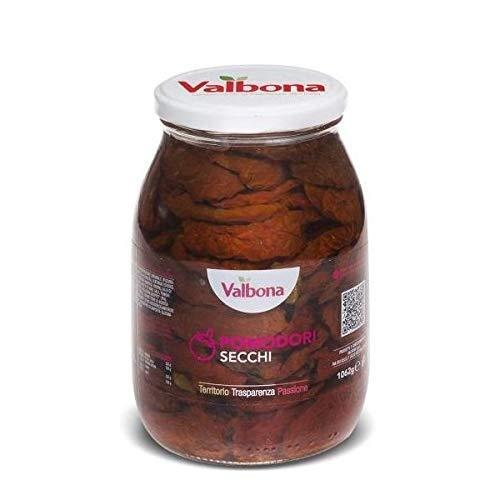Valbona- Tomates Secos en Aceite de Girasol- Producto 100 % Italiano - 500 Gramos Neto