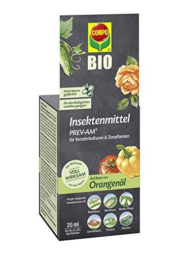 Compo Insektenmittel PREV-AM, Bekämpfung von Wollläusen und Schildläusen an Zierpflanzen und Fruchtgemüse, 20 ml